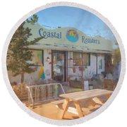Coastal Roasters Round Beach Towel