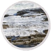 Coastal Washout Round Beach Towel