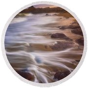 Round Beach Towel featuring the photograph Coastal Whispers by Darren White