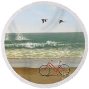 Coasting Round Beach Towel