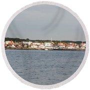 Coastline At Molle In Sweden Round Beach Towel