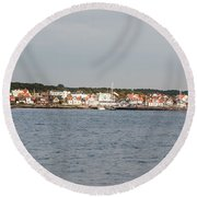 Coastline At Molle In Sweden Round Beach Towel
