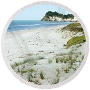 Coastline Nz Round Beach Towel