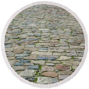 Cobbled Causeway Round Beach Towel