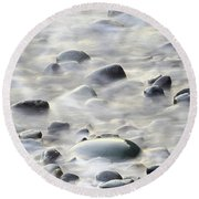 Cobbles In The Mist Round Beach Towel