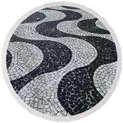 Cobblestone Waves Round Beach Towel