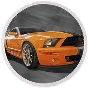 Cobra Power - Shelby Gt500 Mustang Round Beach Towel