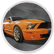 Cobra Power - Shelby Gt500 Mustang Round Beach Towel by Gill Billington