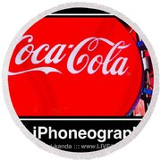 Coca-cola Round Beach Towel