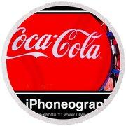 Coca-cola Round Beach Towel