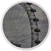 Coca Cola London Eye Round Beach Towel by Martin Newman