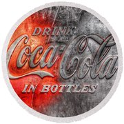 Coca Cola Round Beach Towel