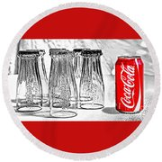 Coca-cola Ready To Drink By Kaye Menner Round Beach Towel