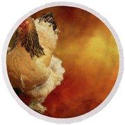 Cochin Chicken Round Beach Towel