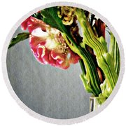 Round Beach Towel featuring the photograph Cockscomb Bouquet 5 by Sarah Loft