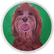 Coco Date With Paint Nov 20th Round Beach Towel