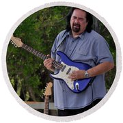 Coco Montoya And His Ocean Blue Fender American Standard Stratoc Round Beach Towel