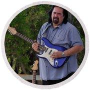 Coco Montoya And His Ocean Blue Fender American Standard Stratoc Round Beach Towel