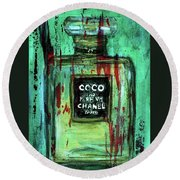 Coco Potion Round Beach Towel by P J Lewis