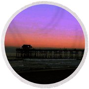 Round Beach Towel featuring the photograph Cocoa Beach Sunset by Gary Wonning