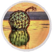 Round Beach Towel featuring the photograph Cocoa Beach Sunset by JC Findley