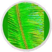 Coconut Palm Leaf Aloha Round Beach Towel
