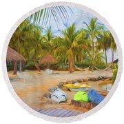 Coconut Palms Inn Beach Round Beach Towel