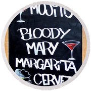 Cocteles Spain Round Beach Towel by Alan Armstrong