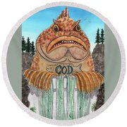 Cod Dam Round Beach Towel
