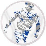 Cody Bellinger Los Angeles Dodgers Pixel Art 1 Round Beach Towel
