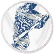 Cody Bellinger Los Angeles Dodgers Pixel Art 10 Round Beach Towel