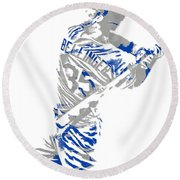 Cody Bellinger Los Angeles Dodgers Pixel Art 2 Round Beach Towel