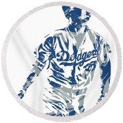 Cody Bellinger Los Angeles Dodgers Pixel Art 20 Round Beach Towel