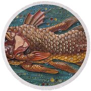 Coelacanth Round Beach Towel