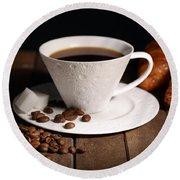 Coffee #4 Round Beach Towel