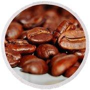 Coffee #6  Round Beach Towel