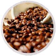 Coffee #8  Round Beach Towel