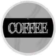 Coffee Fill Line Mug Round Beach Towel