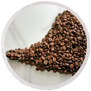 Coffee Lover Round Beach Towel