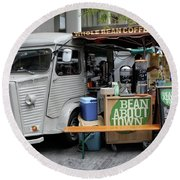Coffee Truck Round Beach Towel