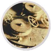Cog And Gear Workings Round Beach Towel