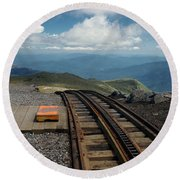 Cog Railway Stop Round Beach Towel