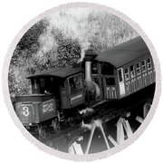 Cog Rr - Black And White Round Beach Towel