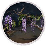 Cogan's Wisteria Tree Round Beach Towel