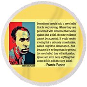 Cognitive Dissonance Frantz Fanon Round Beach Towel
