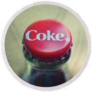 Coke Bottle Cap Square Round Beach Towel by Terry DeLuco