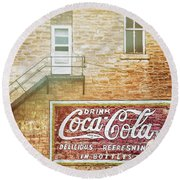 Round Beach Towel featuring the photograph Coke Classic by Darren White