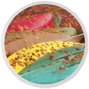 Colby Lake, Adirondacks Round Beach Towel