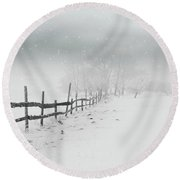 Cold Crow Round Beach Towel