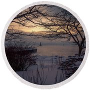 Cold Fingers Round Beach Towel